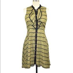 Anthro Postmark Ruffle Dress 2